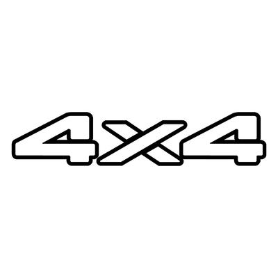 Sticker logo 4X4 ref 14