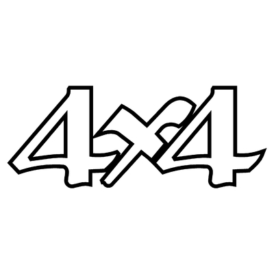 Sticker logo 4X4 ref 26
