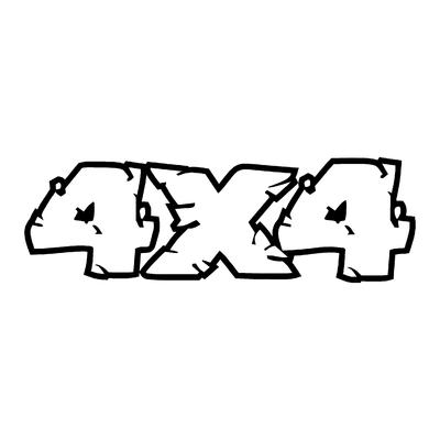 Sticker logo 4X4 ref 38
