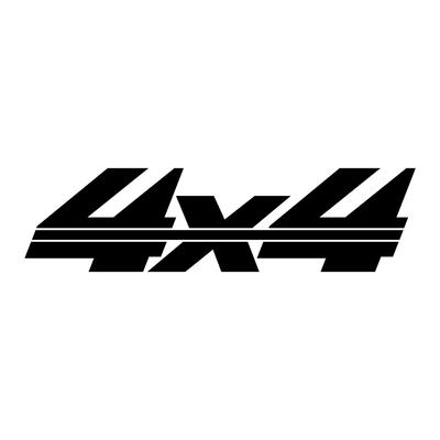 Sticker logo 4X4 ref 57