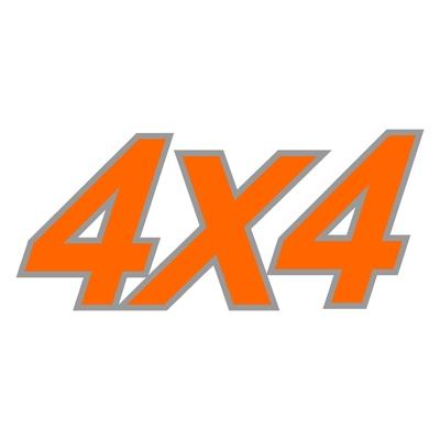 Sticker logo 4X4 ref 8