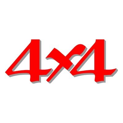 Sticker logo 4X4 ref 27