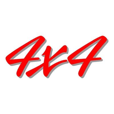 Sticker logo 4X4 ref 31