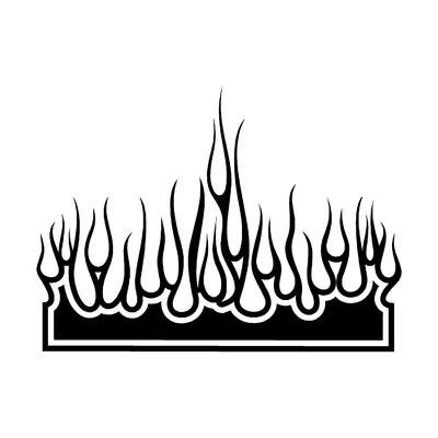 Sticker FLAMMES ref 40c