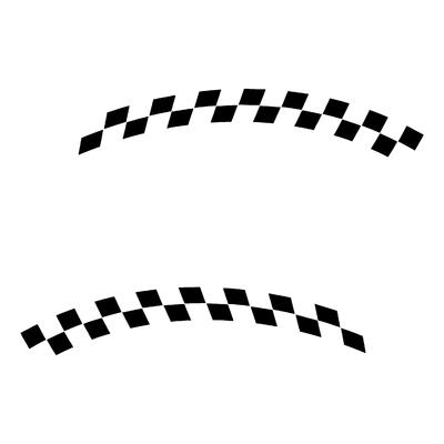 Sticker DAMIER ref 23
