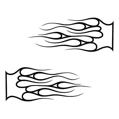 Sticker FLAMMES ref 13b