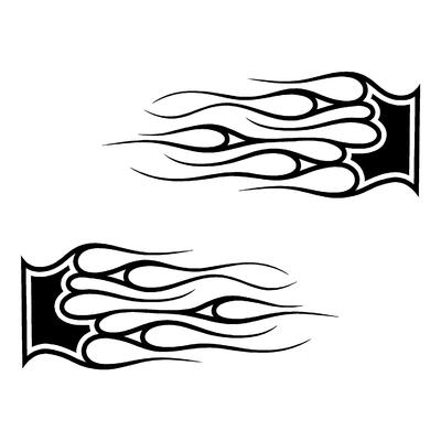 Sticker FLAMMES ref 13c