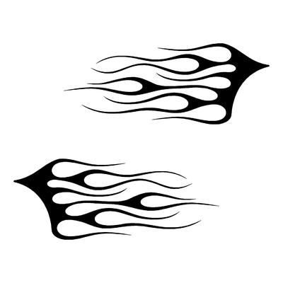 Sticker FLAMMES ref 13d