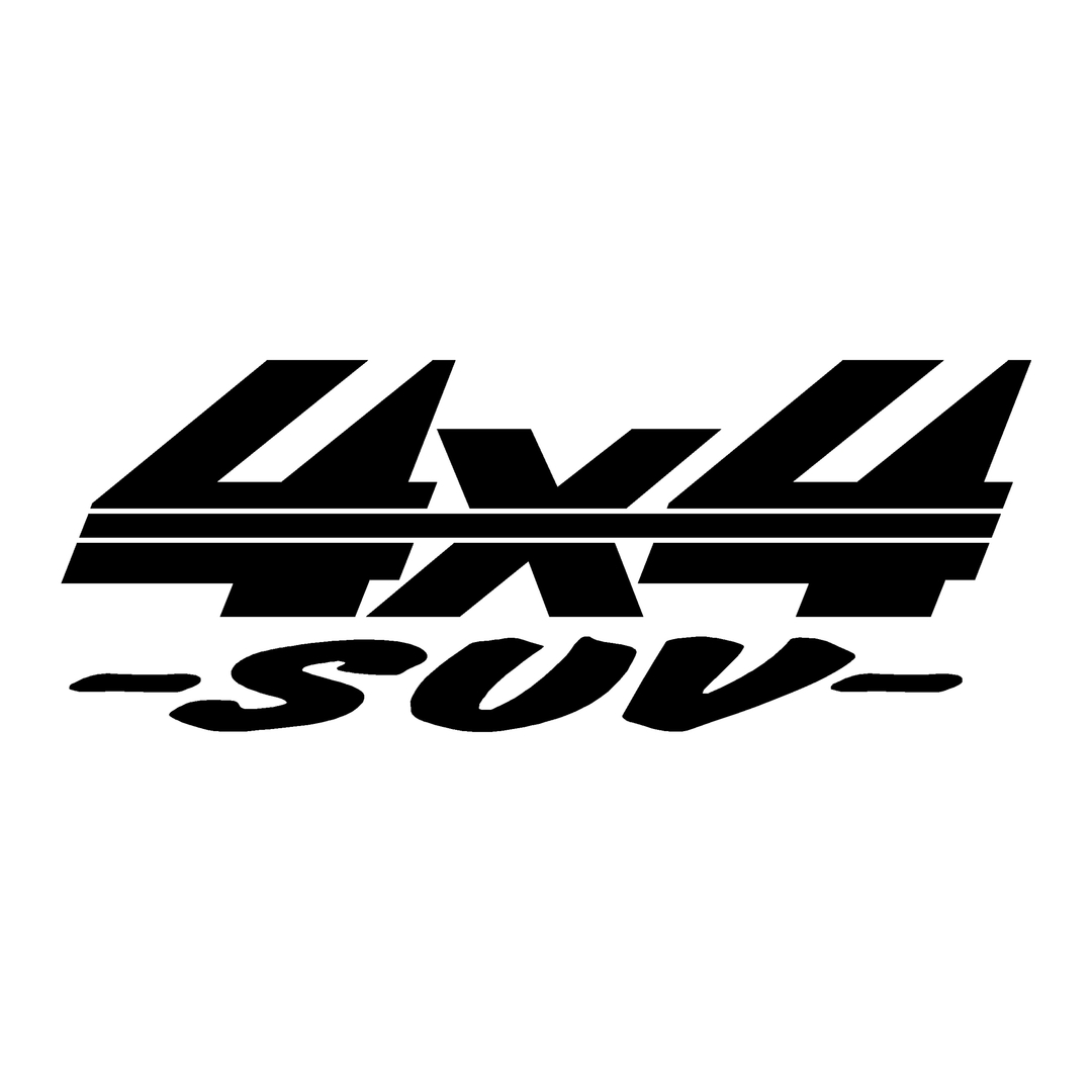 stickers-logo-4x4-suv-ref65-tout-terrain-autocollant-pickup-6x6-8x8