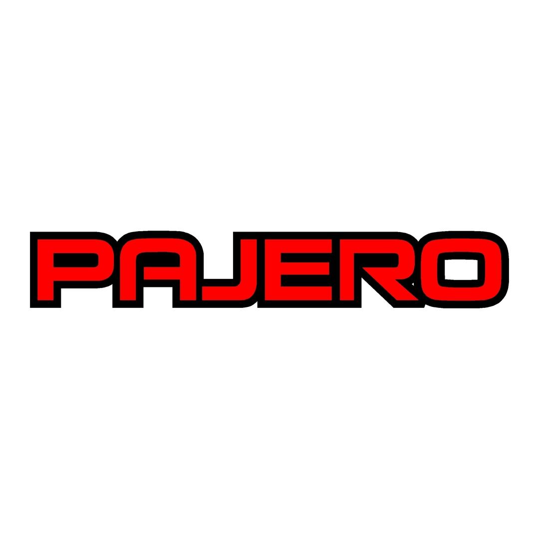 stickers-mitshubishi-pajero-ref71-4x4-tout-terrain-tuning-rallye-compétision-deco-adhesive-autocollant