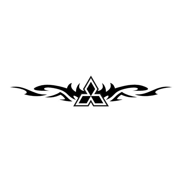 stickers-mitsubishi-ref67-4x4-tout-terrain-autocollant-pickup-l200-pajero-rallye-tuning-flamme-tribal