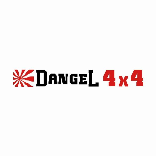 DANGEL ref4 stickers sticker autocollant 4x4  tuning audio 4x4 tout terrain car auto moto camion competition deco rallye racing