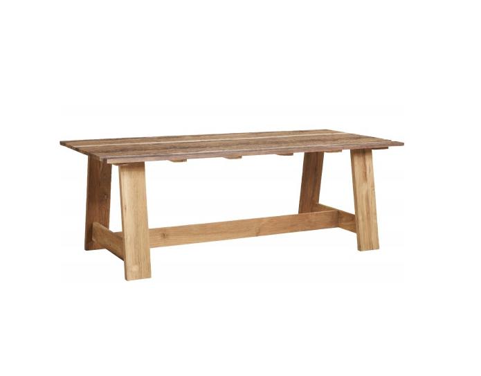 Table TECK recyclé ROMA L 220 X P100 - JARDIN - Villa & Demeure Paris