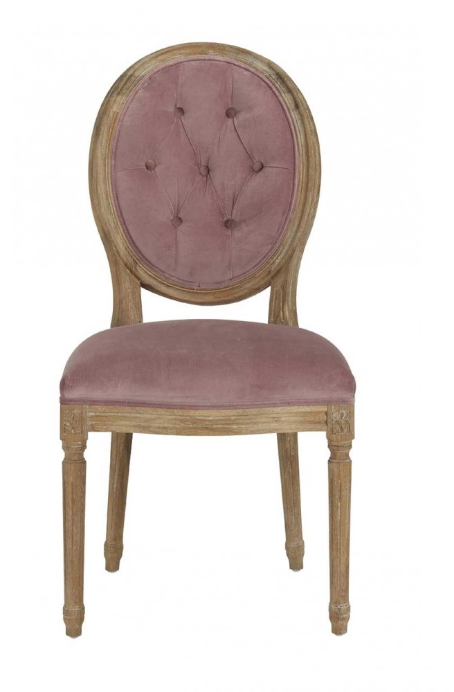chaise_capitonne_rose_velours