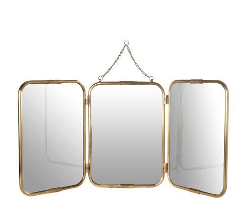 Miroir Tryptique 3 Faces en Cuivre - Villa & Demeure