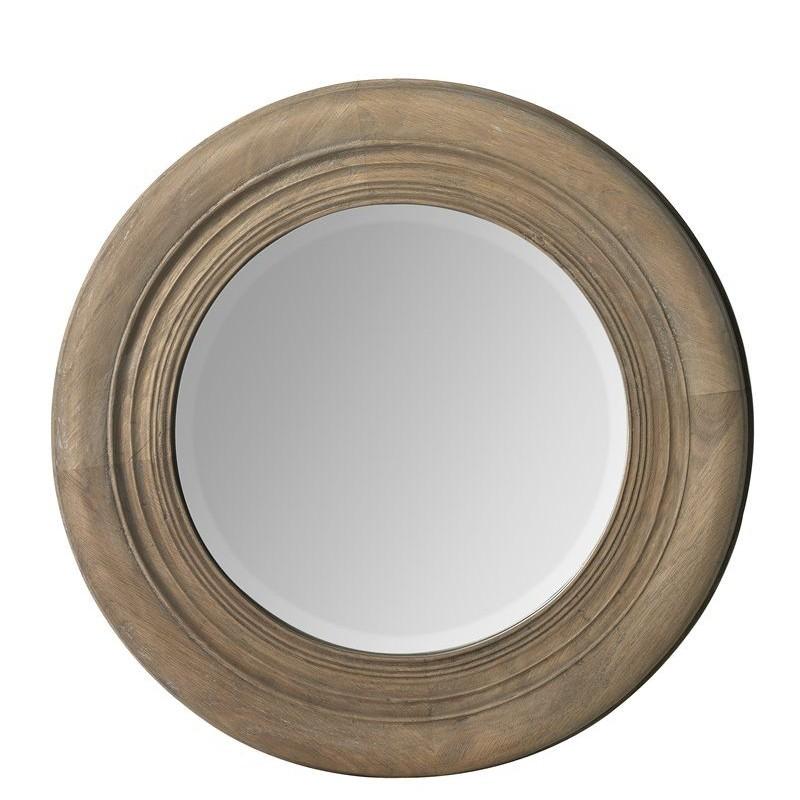 Miroir rond en bois 50cm villa demeure for Miroir rond bois