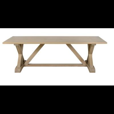 Table Dîner KINGSTON en Chêne Naturel L 220 à 350 cm