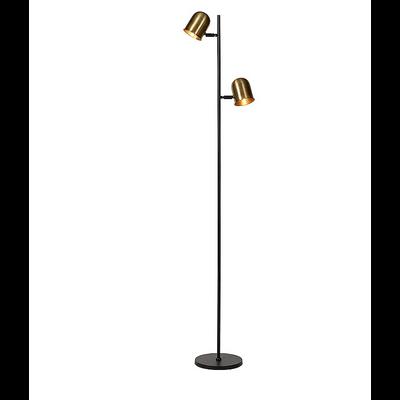 Lampadaire DUAL Black Mat et Bronze H177 cm