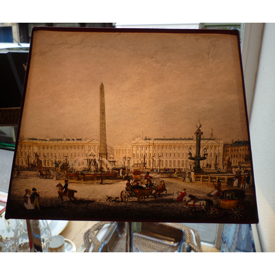 Abat-Jour PARIS CONCORDE et CHAMPS ELYSEES Rectangle GM Ø 40 cm