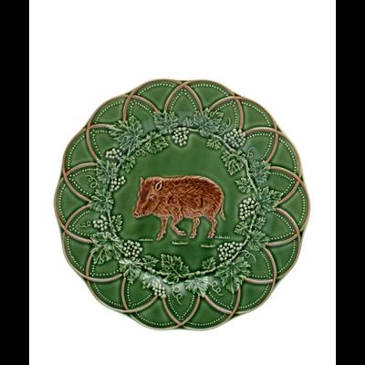 Assiette Plate SANGLIER CHASSE Faïence Ø 24 cm (vendu par 4)