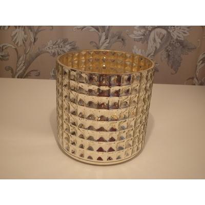 Cache Pot ou Photophore Mercurisé DIAMOND Ø 13cm  H13cm