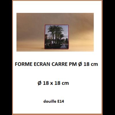 """Forme """"Ecran Carré PM Ø 18 cm"""""""