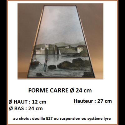 "Forme ""Carré Ø 24 cm"""