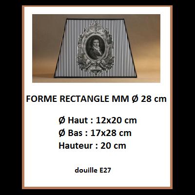 "Forme ""Rectangle Ø 28 cm"""