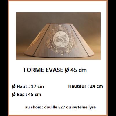 """Forme """"Evase Ø 45 cm"""""""