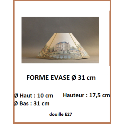 """Forme """"Evasé Ø 31 cm"""""""