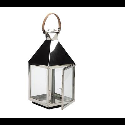 Lanterne Nickel et Anse Cuir BAYO