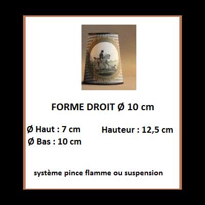 """Forme """"DROIT 10 cm"""""""