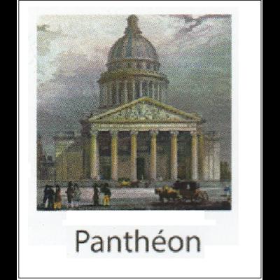 Gravure PANTHEON (choisir votre forme d'abat-jour et fond de couleur)