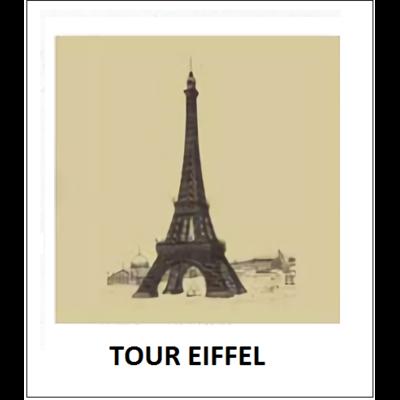 Gravure TOUR EIFFEL (choisir votre forme d'abat-jour et fond de couleur)