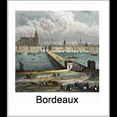 Gravure BORDEAUX (choisir votre forme d'abat-jour et fond de couleur)