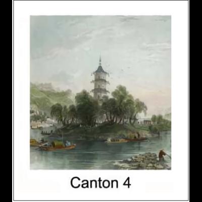 Gravure CANTON 4 (choisir votre forme d'abat-jour et fond de couleur)