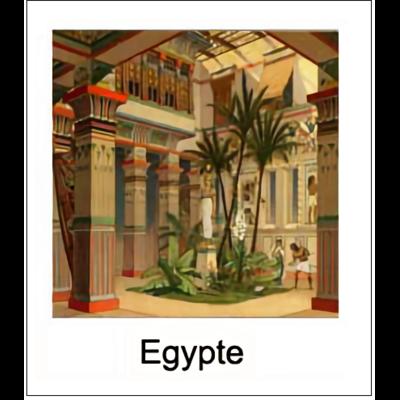 Gravure EGYPTE (choisir votre forme d'abat-jour et fond de couleur)