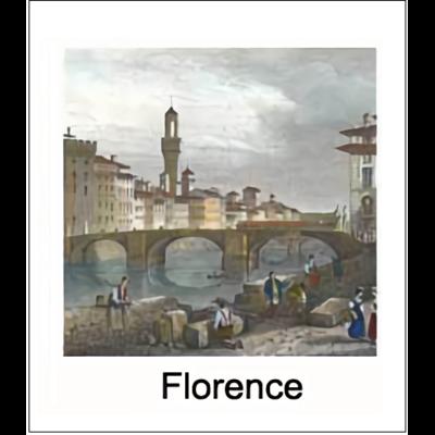 Gravure FLORENCE (choisir votre forme d'abat-jour et fond de couleur)
