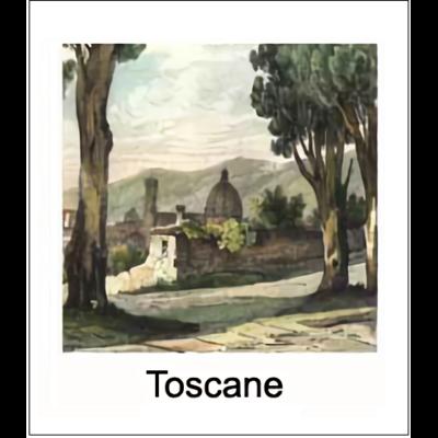 Gravure TOSCANE (choisir votre forme d'abat-jour et fond de couleur)