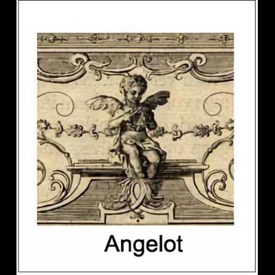 Gravure ANGELOT (choisir votre forme d'abat-jour et fond de couleur)