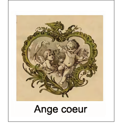 Gravure ANGE COEUR (choisir votre forme d'abat-jour et fond de couleur)