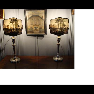 Abat-Jour EXOTIQUE Ecran Baroque  (H 17 cm x L 19 cm)