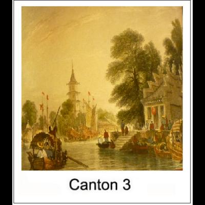 Gravure CANTON 3 (choisir votre forme d'abat-jour et fond de couleur)