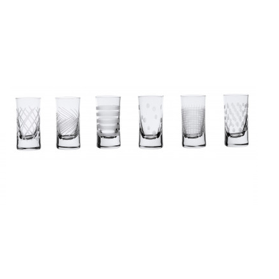 6 Verres à VODKA assortis OSLO