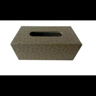 Boîte Kleenex façon AUTRUCHE Kaki L 25 cm