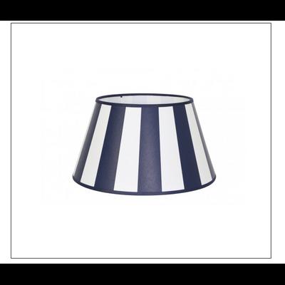 Abat-Jour ROND Rayé Bleu Marine et Blanc Ø35 cm