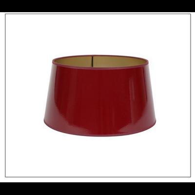 Abat-Jour ROND LAQUE Rouge/Doré Ø20 cm