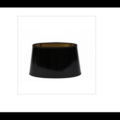 Abat-Jour OVAL LAQUE Noir/Doré Ø35 cm