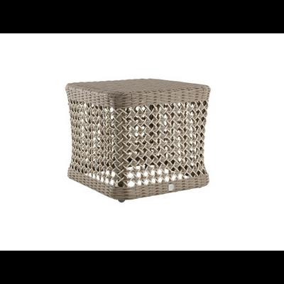 Table Basse Carrée CAP FERRET en Résine Ø 47 cm