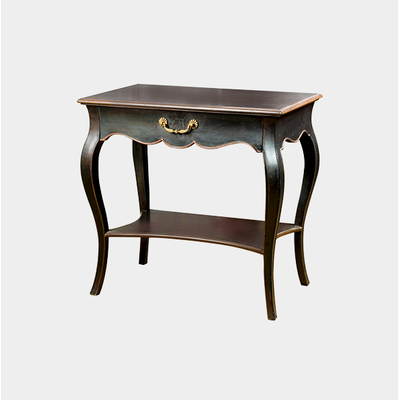 Table REGENCE Noir Antique L 80 cm